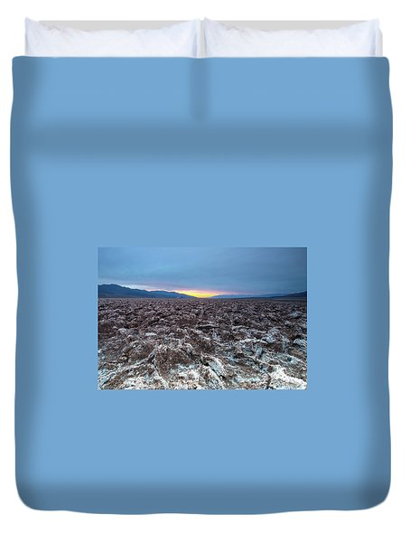 Duvet Cover featuring the photograph Devil's Golf Course  by Catherine Lau