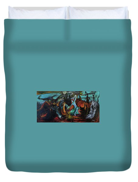 Devils Gorge Duvet Cover by Christophe Ennis