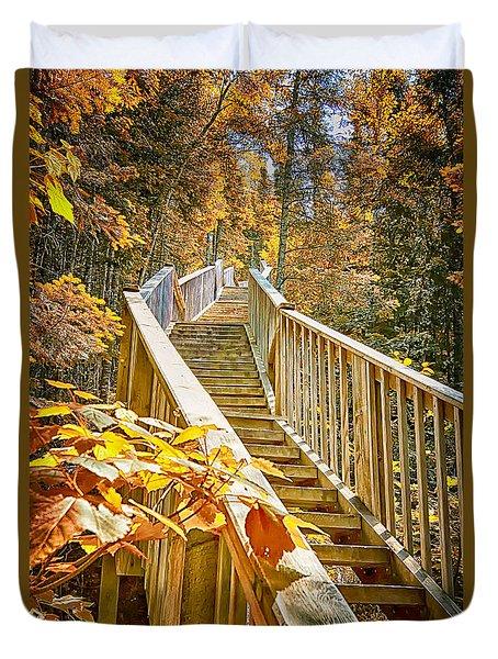 Devil's Kettle Stairway Duvet Cover