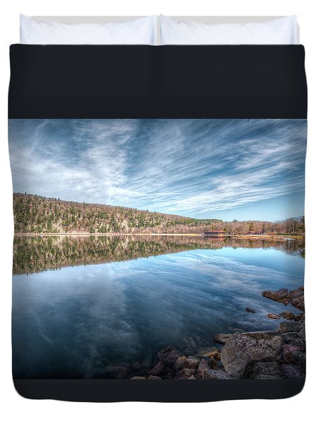 Devils Lake Duvet Cover