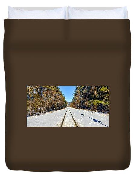 Devil's Lake Railroad Duvet Cover by Ricky L Jones