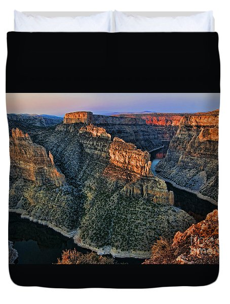 Devils Overlook Big Horn Canyon Duvet Cover