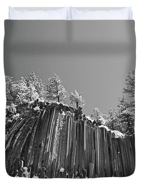 Devil's Postpile - Frozen Columns Of Lava Duvet Cover by Christine Till
