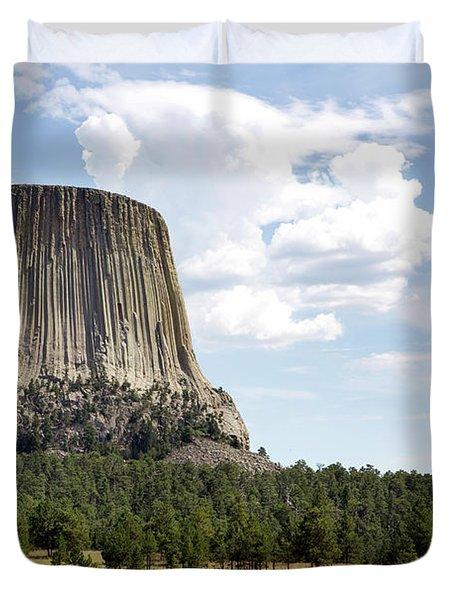 Devils Tower National Monument Duvet Cover