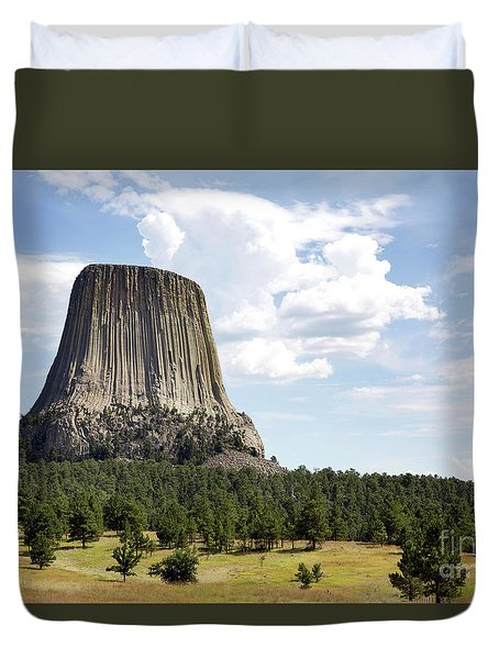 Devils Tower National Monument Duvet Cover