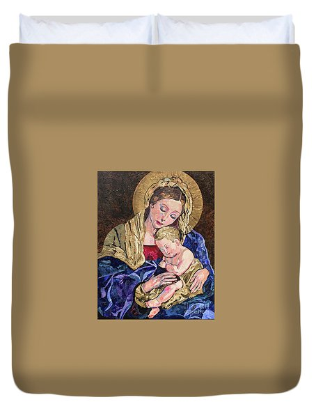 Devine Intervention Duvet Cover by Pat Craft
