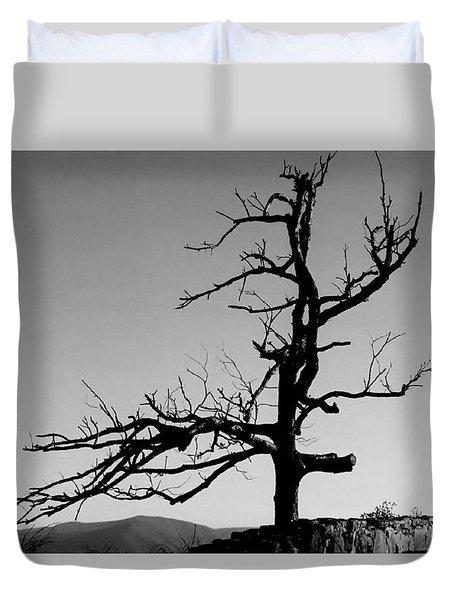 Devoid Of Life Tree Duvet Cover