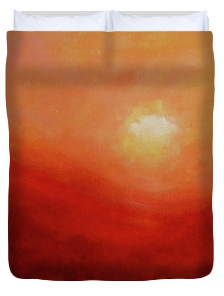 Duvet Cover featuring the painting Devotion by Valerie Anne Kelly
