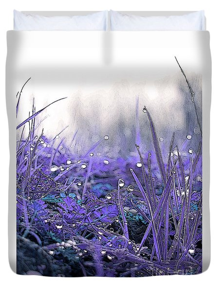Dew Drops Magic Two Duvet Cover by Robert Ball
