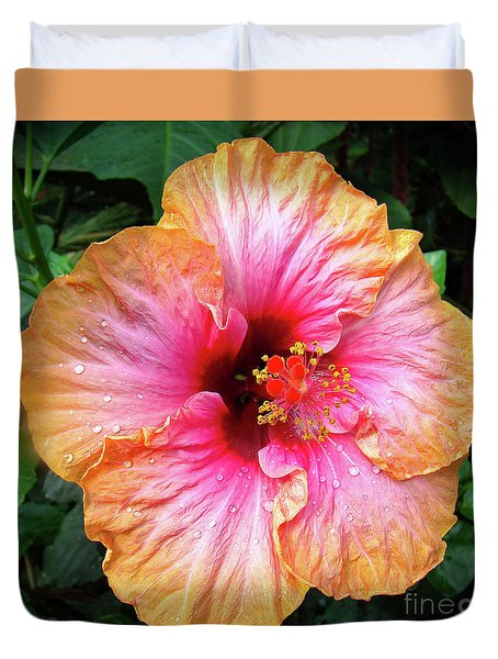 Dew-kissed Hibiscus Duvet Cover