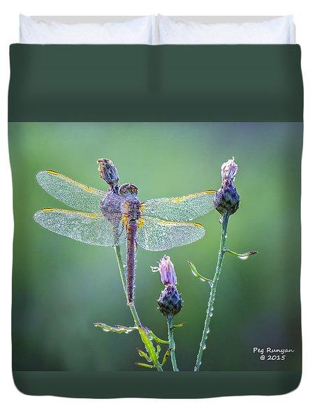 Dew Laden Dragonfly Duvet Cover