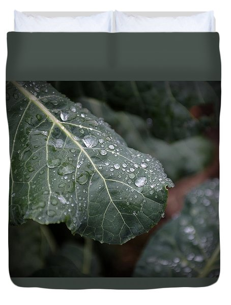 Dew On Leaf Duvet Cover