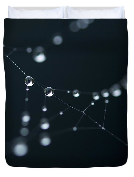 Dewdrop On Cobweb 002 Duvet Cover