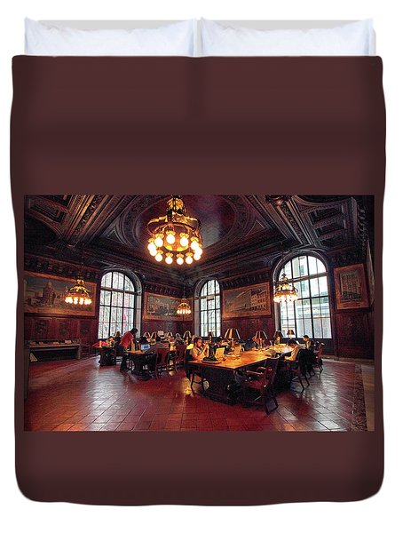 Duvet Cover featuring the photograph Dewitt Wallace Periodical Room by Jessica Jenney