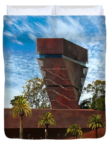 Deyoung Museum Twist Tower Duvet Cover by Wernher Krutein