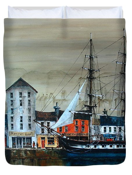 Ireland Canada Links.. The'' Dunbrody'' Famine Ship In New Ross, Wexford Duvet Cover