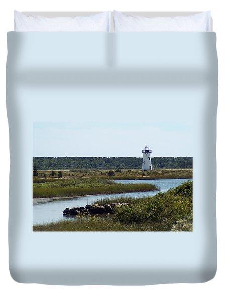 Edgartown Harbor Lighthouse Duvet Cover