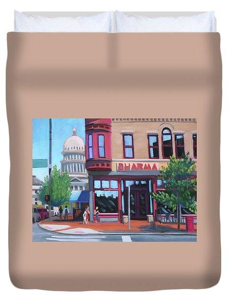 Dharma Building - Boise Duvet Cover
