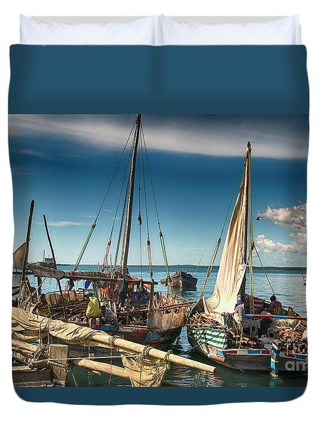 Dhow Sailing Boat Duvet Cover