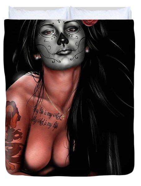 Dia De Los Muertos 4 Duvet Cover