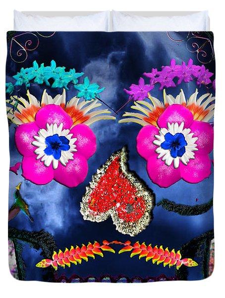 Dia De Los Muertos Duvet Cover by Dolly Sanchez