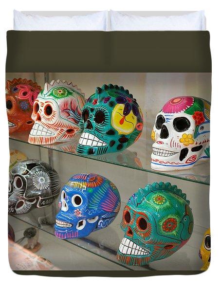 Dia De Los Muertos Skulls Duvet Cover