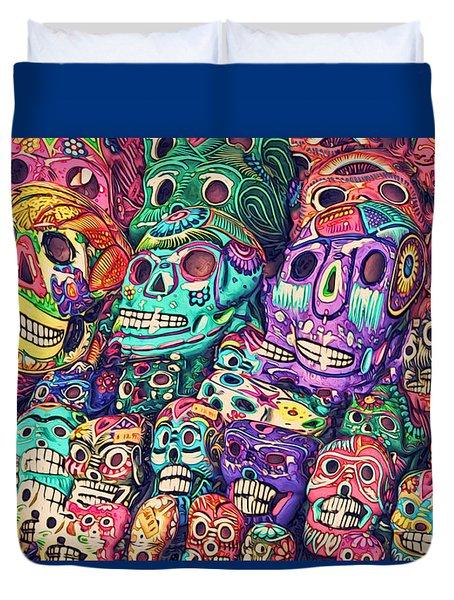 Dia De Los Muertos Sugar Skulls Duvet Cover