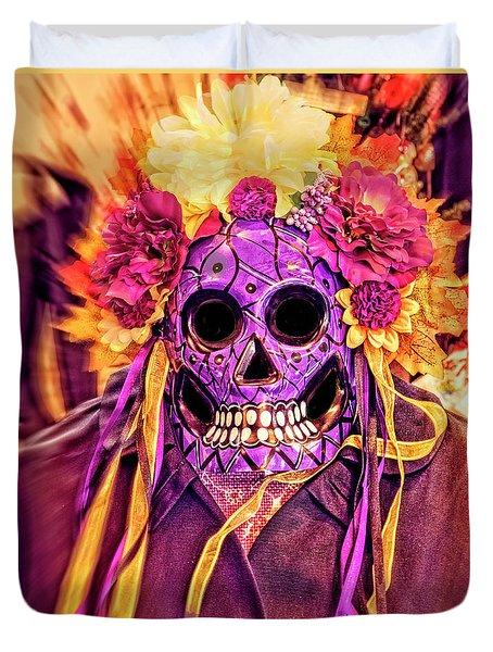 Dia De Muertos Mask Duvet Cover