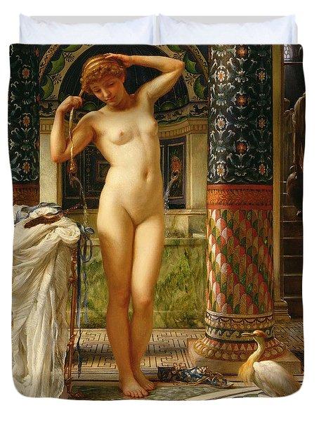 Diadumene Duvet Cover by Sir Edward John Poynter