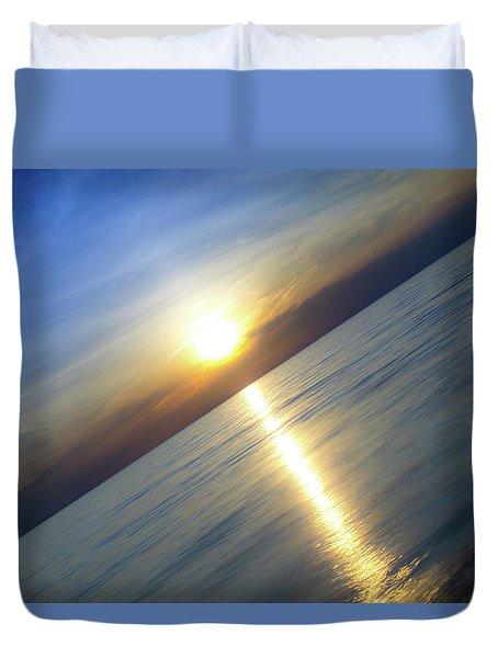 Diagonal Sunset Duvet Cover