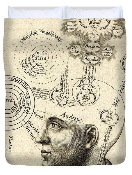 Diagram Of Human Thought And The Four Senses Duvet Cover
