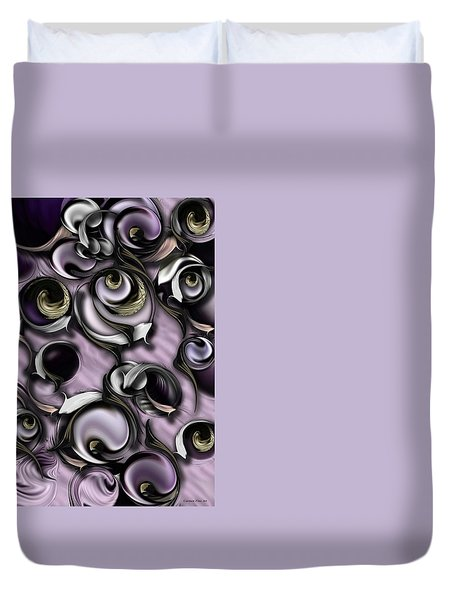Dialogue With Interfering Reality Duvet Cover by Carmen Fine Art