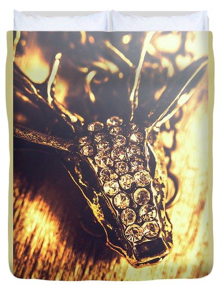 Diamond Encrusted Wildlife Bracelet Duvet Cover
