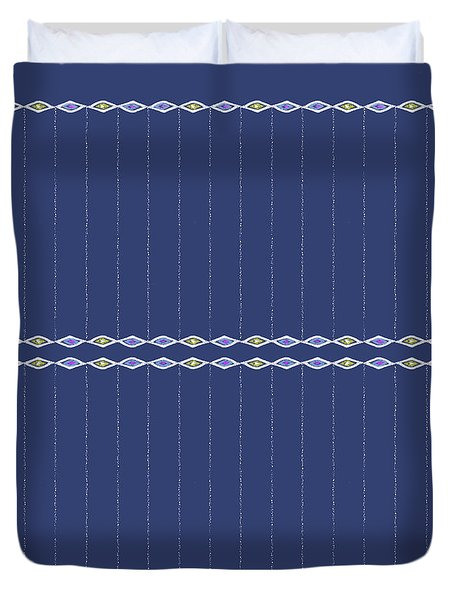 Diamond Eyes Indigo Duvet Cover