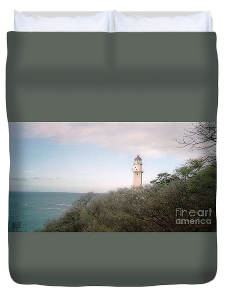 Diamond Head Light House Duvet Cover