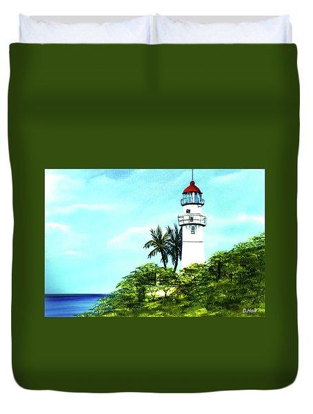 Diamond Head Lighthouse #10 Duvet Cover by Donald k Hall