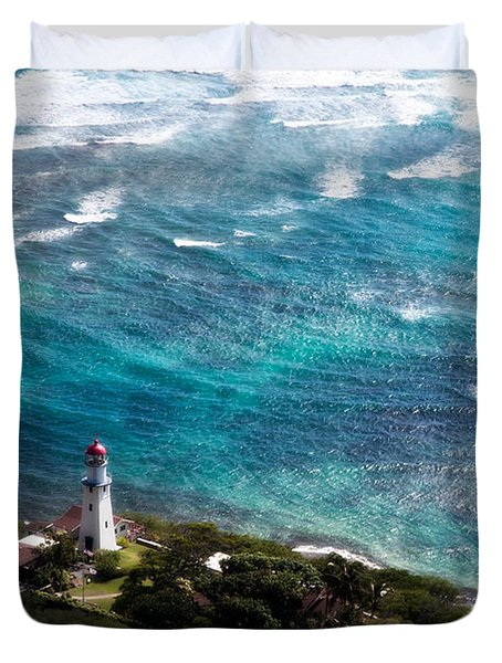 Diamond Head Lighthouse Duvet Cover by Steven Sparks