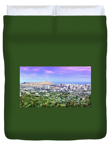 Diamond Head Skyline Duvet Cover