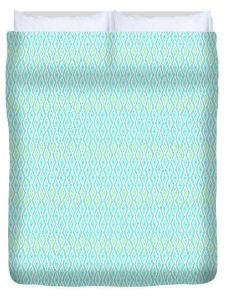 Diamond Rain Aqua Duvet Cover