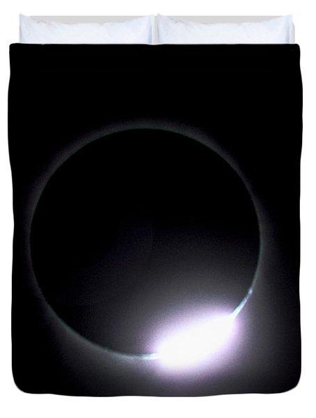Diamond Ring During Solar Eclipse Duvet Cover