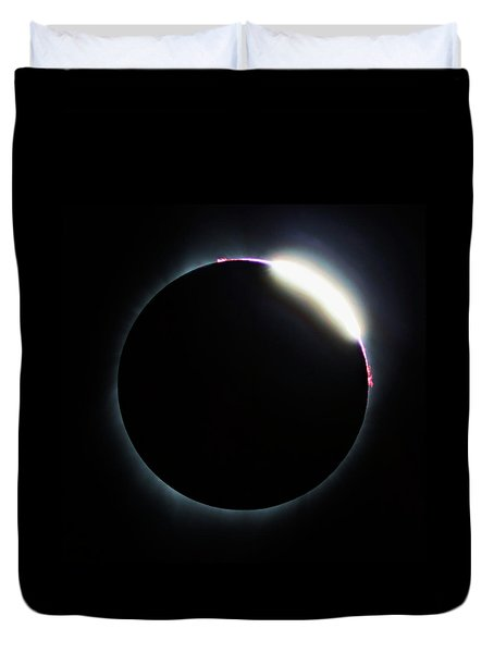 Diamond Ring - Eclipse August 21 2017 Duvet Cover