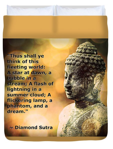 Diamond Sutra Quotation Art Duvet Cover