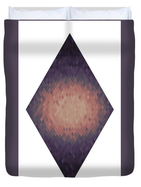 Duvet Cover featuring the digital art Diamonds Centered 1 by Kenny Glotfelty
