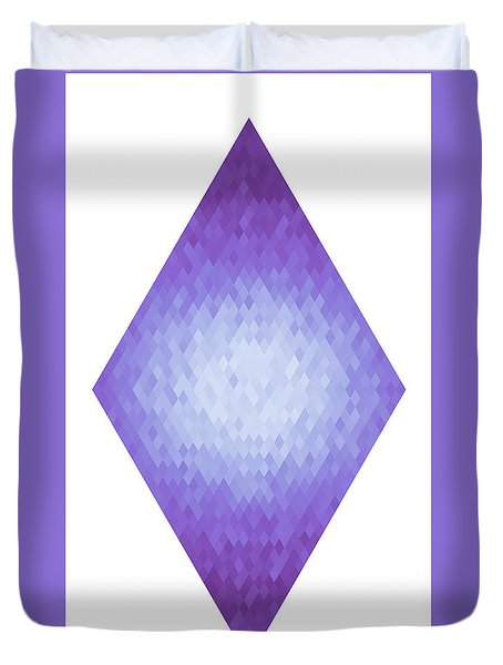 Duvet Cover featuring the digital art Diamonds Centered 3 by Kenny Glotfelty