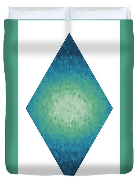 Duvet Cover featuring the digital art Diamonds Centered 4 by Kenny Glotfelty