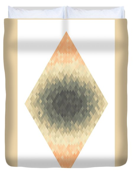 Duvet Cover featuring the digital art Diamonds Centered 5 by Kenny Glotfelty