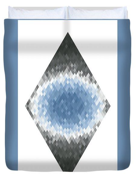 Duvet Cover featuring the digital art Diamonds Centered 6 by Kenny Glotfelty