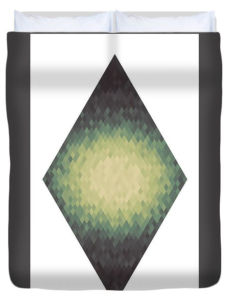 Duvet Cover featuring the digital art Diamonds Centered 7 by Kenny Glotfelty