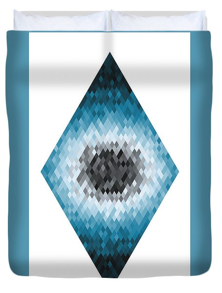 Duvet Cover featuring the digital art Diamonds Centered 8 by Kenny Glotfelty