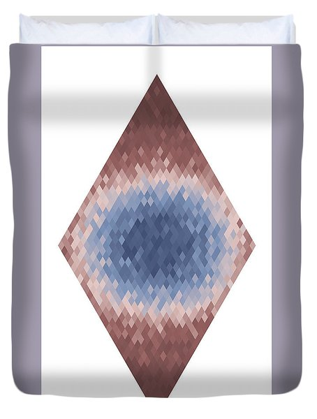 Duvet Cover featuring the digital art Diamonds Centered 9 by Kenny Glotfelty